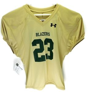 NEW- Under Armor Football Jersey, size L, color go